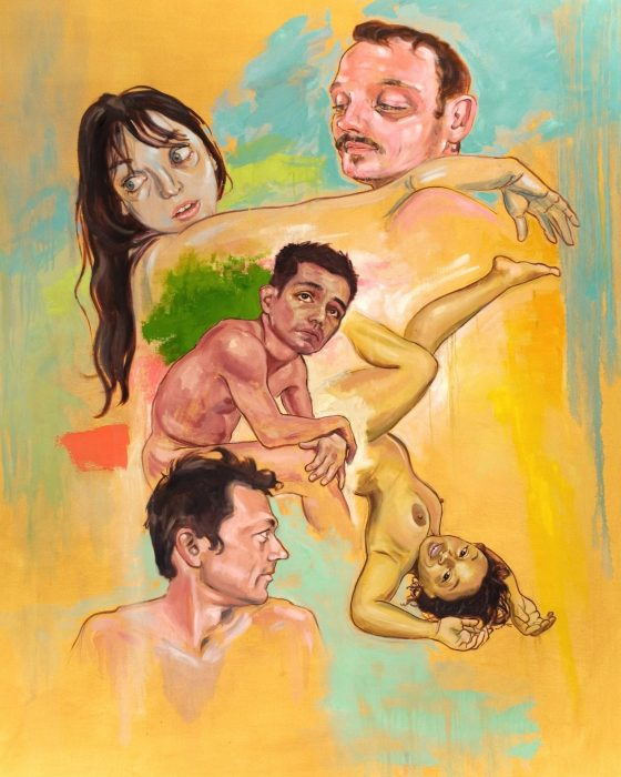 """Big Lori, Big Tony"", oil on canvas, 48"" x 60"", 2007."